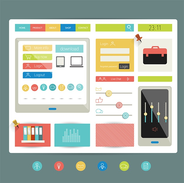Responsive web design and features